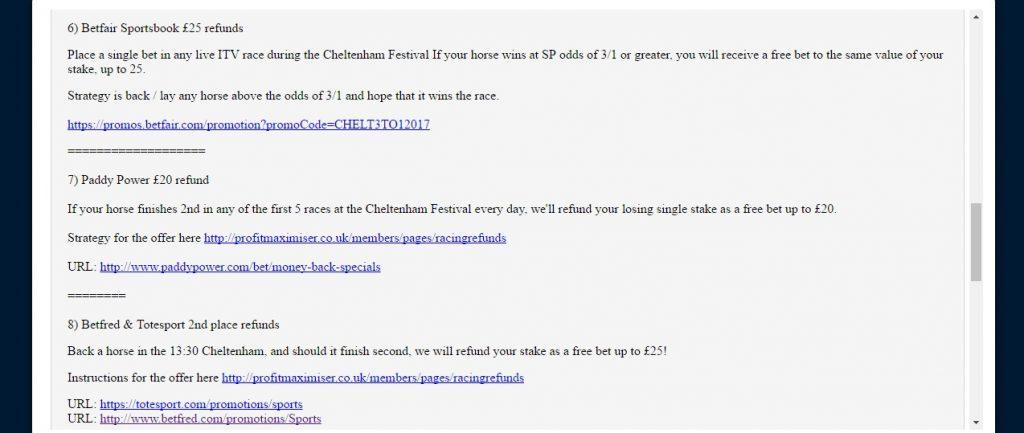Profit Maximsier Cheltenham Calendar