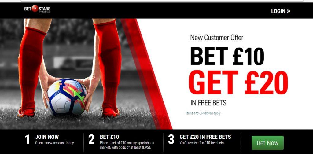 Bet Stars New Customers Offer